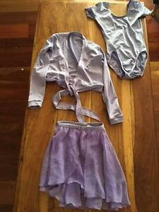Girls size 8 ballet leotard, chiffon skirt and wraparound jumper Wilston Brisbane North West Preview