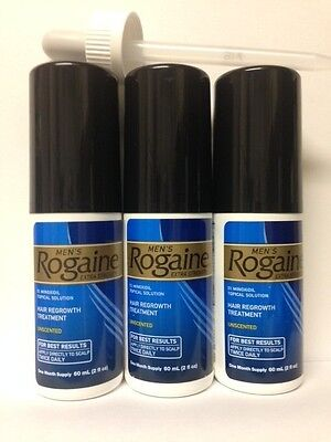 Rogaine for Men Extra Strength 5% Minoxidil 3 Month Supply Hair Regrowth Topical