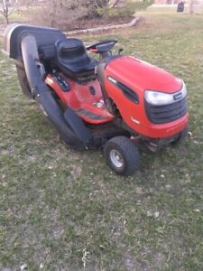 Craftsman riding lawn tractor with bagger attachment