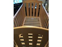 Mamas and Papas 3 Position Cotbed with Teethguard rails
