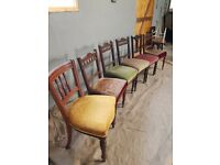Six antique chairs