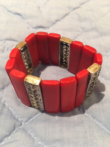 Bracelet with Red and Silver