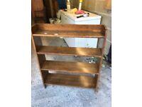 Antique open back bookcase