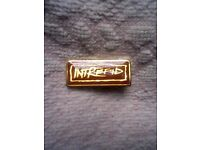 COLLECTOR PIN BADGE NEW / UNUSED- INTREPID - IDEAL FOR SCOUTS (THE ADVENTUROUS)