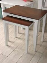 Nest 2x French Provincial Teak Side Tables ~ Like New Varsity Lakes Gold Coast South Preview