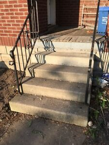 Free Precast concrete Stairs with Railings
