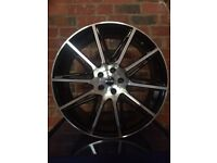 """20"""" BV Black & Polished Alloy Wheels To Fit Range Rover Evoque / Ford Kuga - Brand New"""