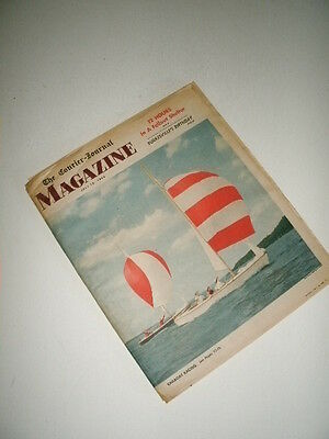 Louisville Courier Journal Magazine 1960. Sailboat Racing! KY Horse Shows!