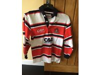 Gloucester Rugby Child's rugby shirt with players signatures