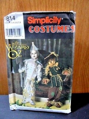 SIMPLICITY PATTERN 7814 WIZARD OF OZ COSTUMES TIN MAN SCARECROW UNCUT HALLOWEEN  - Scarecrow Halloween Costume Pattern