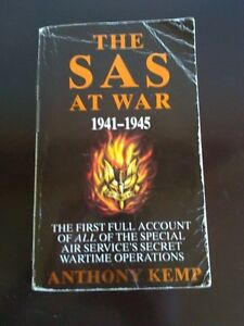 The SAS at War by Anthony Kemp Novel Paperback