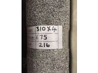 Noble Heathers Grey Carpet remnant - 3.10x4m - £75 - Ref 216