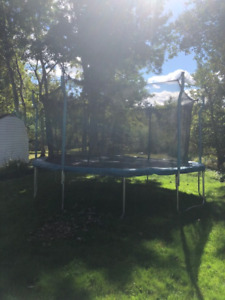 15' Trampoline. Used 2 summers. $250.00. Great shape.