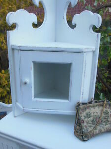 Small upper corner cabinet and hooked picture of maple sap London Ontario image 4