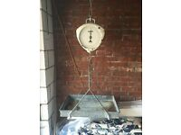 Vintage Salter Suspended Butchers Shop Weighing Scales