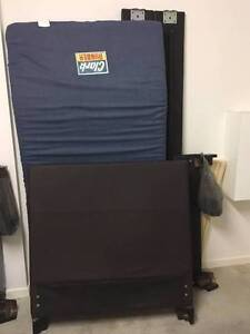 USED Chocolate Leather look Single bed Boondall Brisbane North East Preview