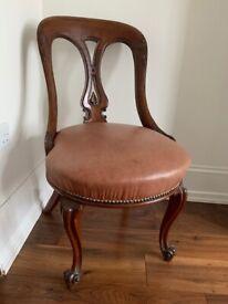 elegant antique french mahogany chair
