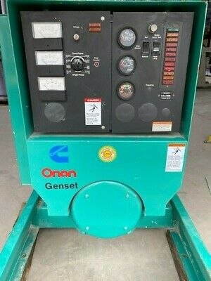 Cummins Onan 60 Kw 3phase 75kva 60ena Natural Gas Generator 696 Hrs