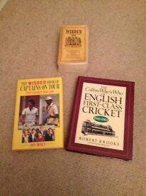 Cricket books x 3 Wisden Almanack, Who's Who etc.