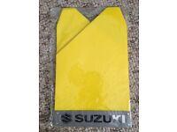 Suzuki Rally Yellow Mud Flaps Splash Guards x4