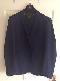 Next Slim Fit Blue Suit - 44R Jacket / 38R Trousers