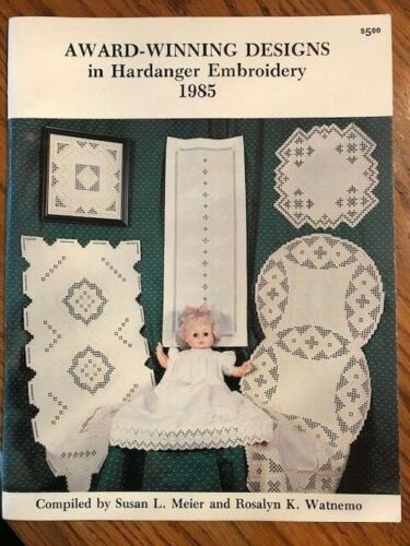 48 pages ~ Vintage 1985 Award Winning Embroidery 14 designs pattern book #6752B