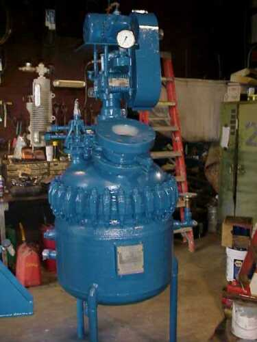 50 Gallon PFAUDLER Used Glass Lined Reactor with Mixer