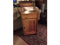 Good quality Pine Bedside with lift up top