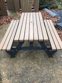 Heavy Duty Recycled plastic pub garden benches