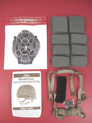 US Army Issued Replacement Helmet Pad & Chin Strap Set for ACH or MICH Helmet Mich Helmet Straps