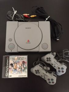 Original PS1 Sony Playstation Console + Final Fantasy IV