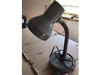 Grey desk lamp / office desk / bedside table bedroom light