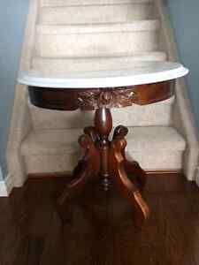 Antique Kimball Italian Marble End Table (2 available)
