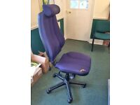 BLUE OFFICE OPERATOR / TYPING CHAIR - FULLY ADJUSTABLE
