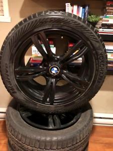 Yokohama W Drive tires with Black Rims 245/50R18