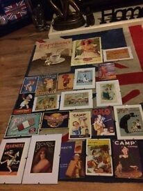 RETRO / VINTAGE ADVERTISEMENT SIGNS JOBLOT - * BARGAIN ONLY £20 * FOR THE LOT