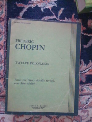 Vtg Sheet Music Books for Chopin Piano Preludes & 12 Polonaises Chopin Prelude Sheet Music