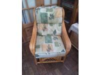 CONSERVATORY FURNITURE , IN GOOD CONDITION, TWO CHAIRS AND A TWO SEATER , VERY COMFORTABLE