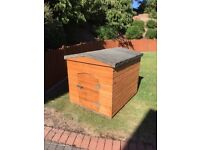 Large Dog Kennel. Wooden with felted roof. Lockable door. size 1090H x 1000W x1210 D