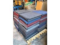 Mixed Pallet Colour and Grade Carpet Tiles, Some Cut, Some Marked, Some New