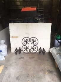 Decorative Wrought Ironwork - panels and baskets (black)