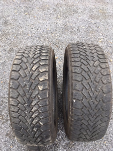 2 pneus d'hiver 205/55R16, 91S