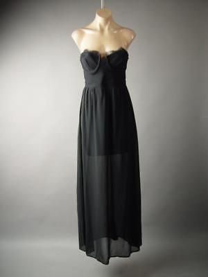 Black Bustier Strapless or Strappy Formal Evening Gothic Gown Long 285 mv Dress