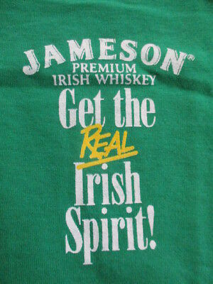 Vintage BEST Label JAMESON Premium Irish Whiskey REAL IRISH SPIRIT! (LG)