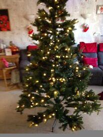 7 ft pre lit artificial Christmas tree