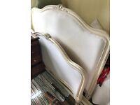 Wooden upholstered king size bed frame