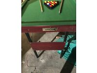 Omega Kids snooker/pool table in good condition