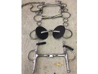Various equestrian items and tack. Offers considered for the whole box