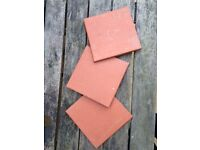 19 X red quarry tiles for sale, £5