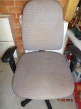 OFFICE CHAIR SWIVEL /ADJUSTABLE CLOTH GOOD COND Stirling Stirling Area Preview